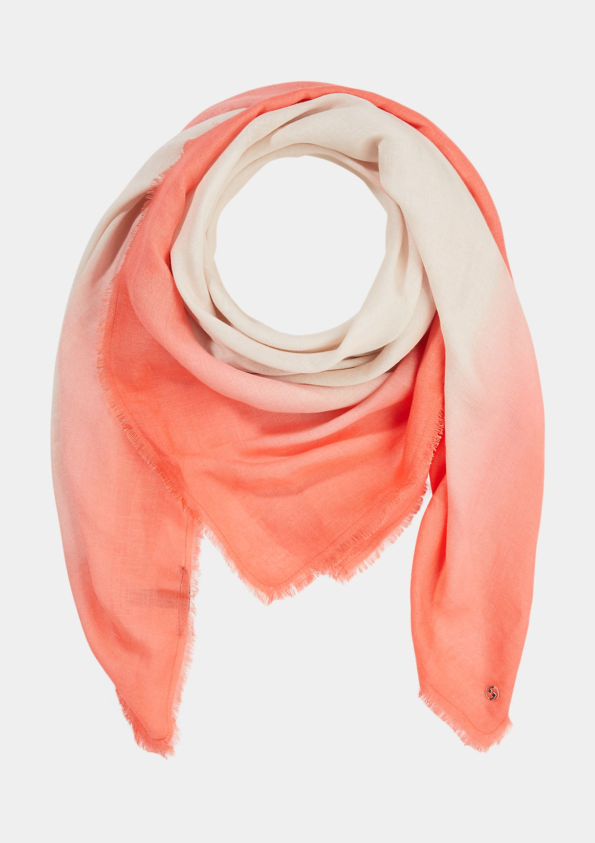 Lightweight scarf with colour graduation from comma