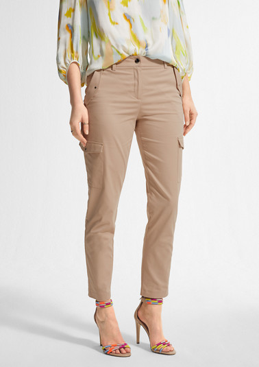 Slim fit: Cargo-style chinos from comma