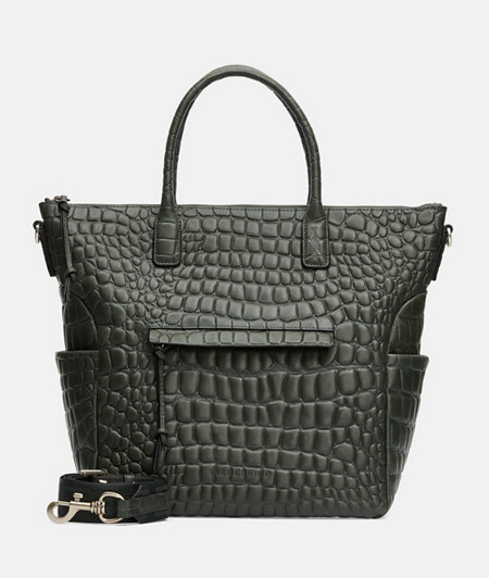 Embossed crocodile bag made of smooth leather from liebeskind
