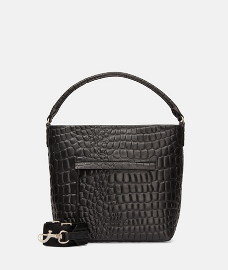 Medium-sized bag in a crocodile look from liebeskind