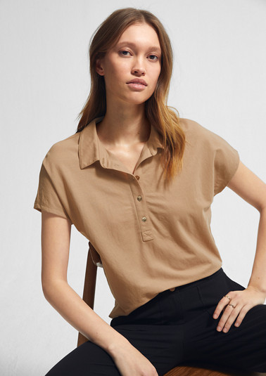Polo shirt with a piqué texture from comma