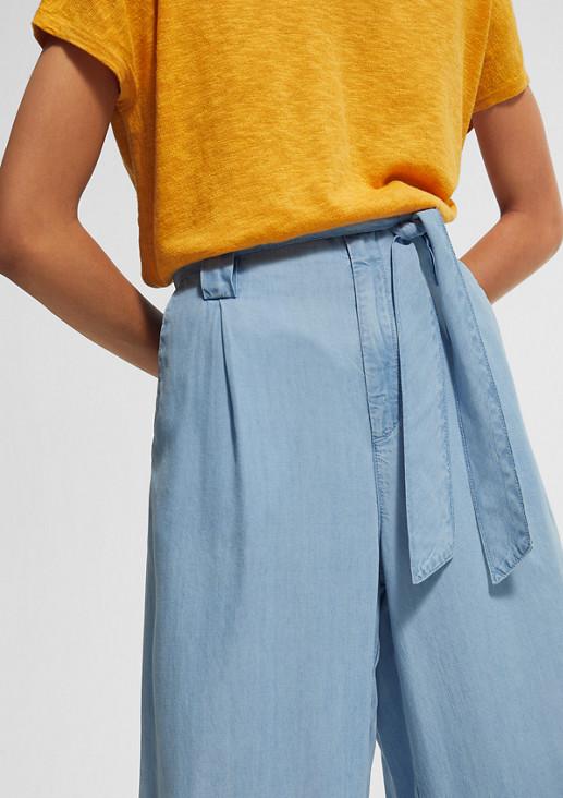 Weite Hose aus Lyocell-Denim