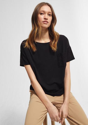 T-Shirt mit Lochspitze