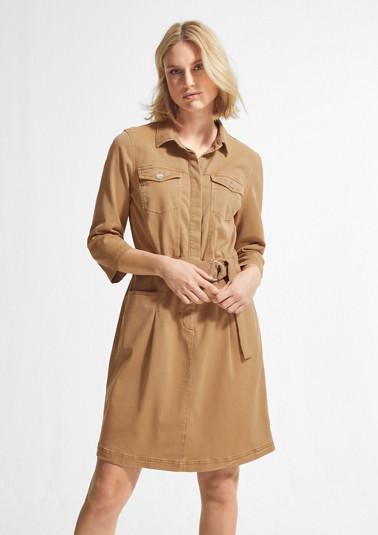 Kleid aus Lyocellmix-Twill