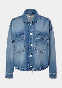 O-Shape-Jacke aus Lyocell-Denim