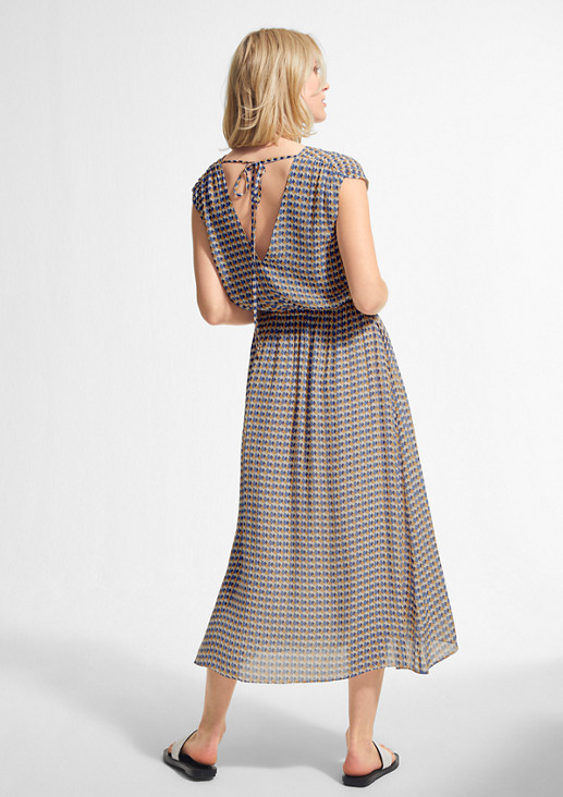 Viscose dress with a back neckline from comma