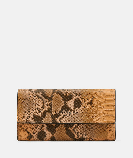 Leather wallet with snakeskin embossing from liebeskind