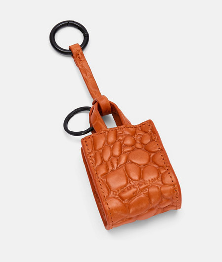 Leather bag pendant with crocodile embossing from liebeskind