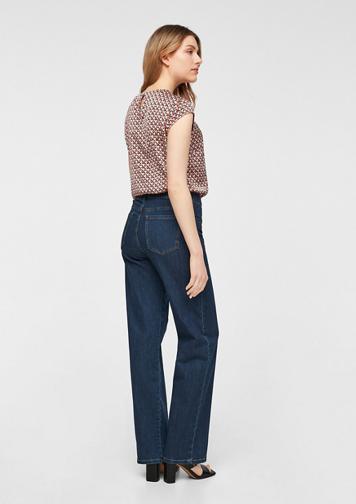 Slim Fit: Dunkle Wide leg-Jeans