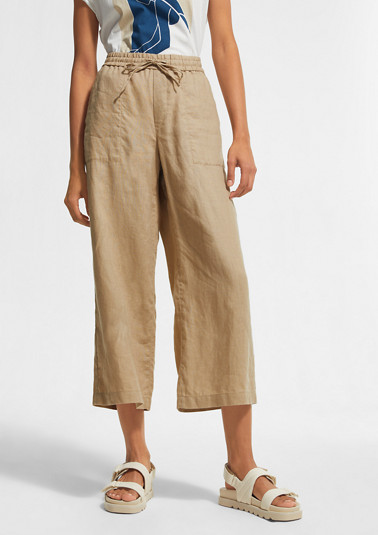 Loose, tracksuit-style linen trousers from comma