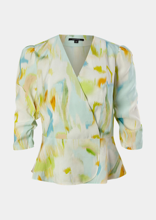 Blouse with a wrap effect from comma
