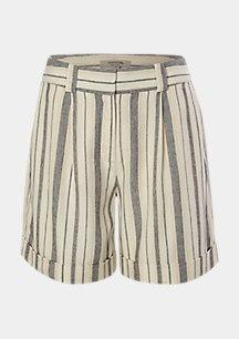 Kurze Hose aus Lyocell und Leinen