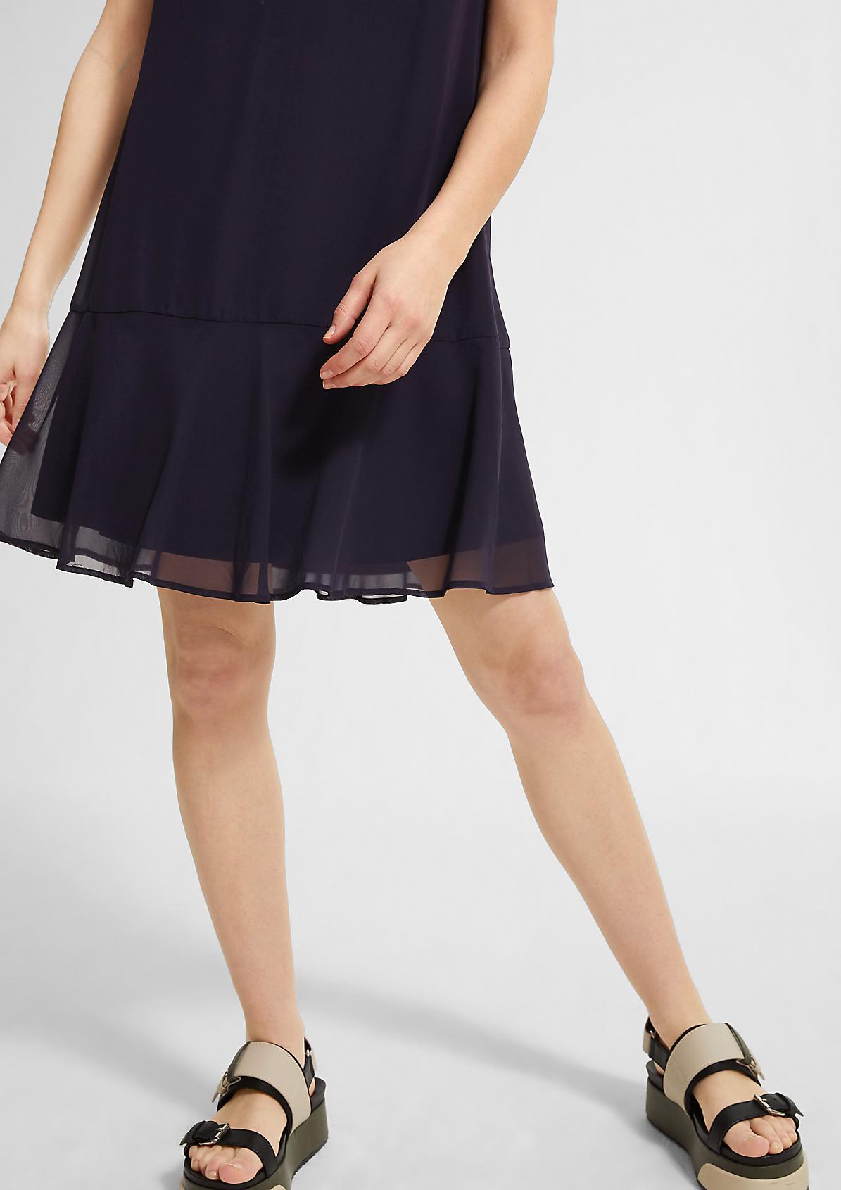 Bedrucktes Kleid aus Chiffon