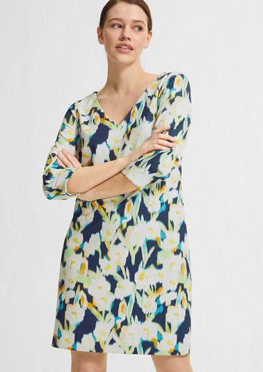 Jerseykleid mit Allover-Print