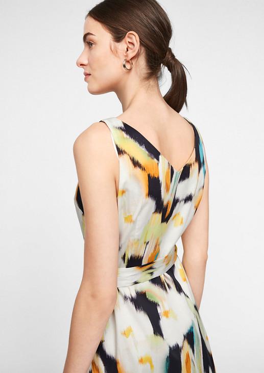 Baumwollkleid mit Allover-Print