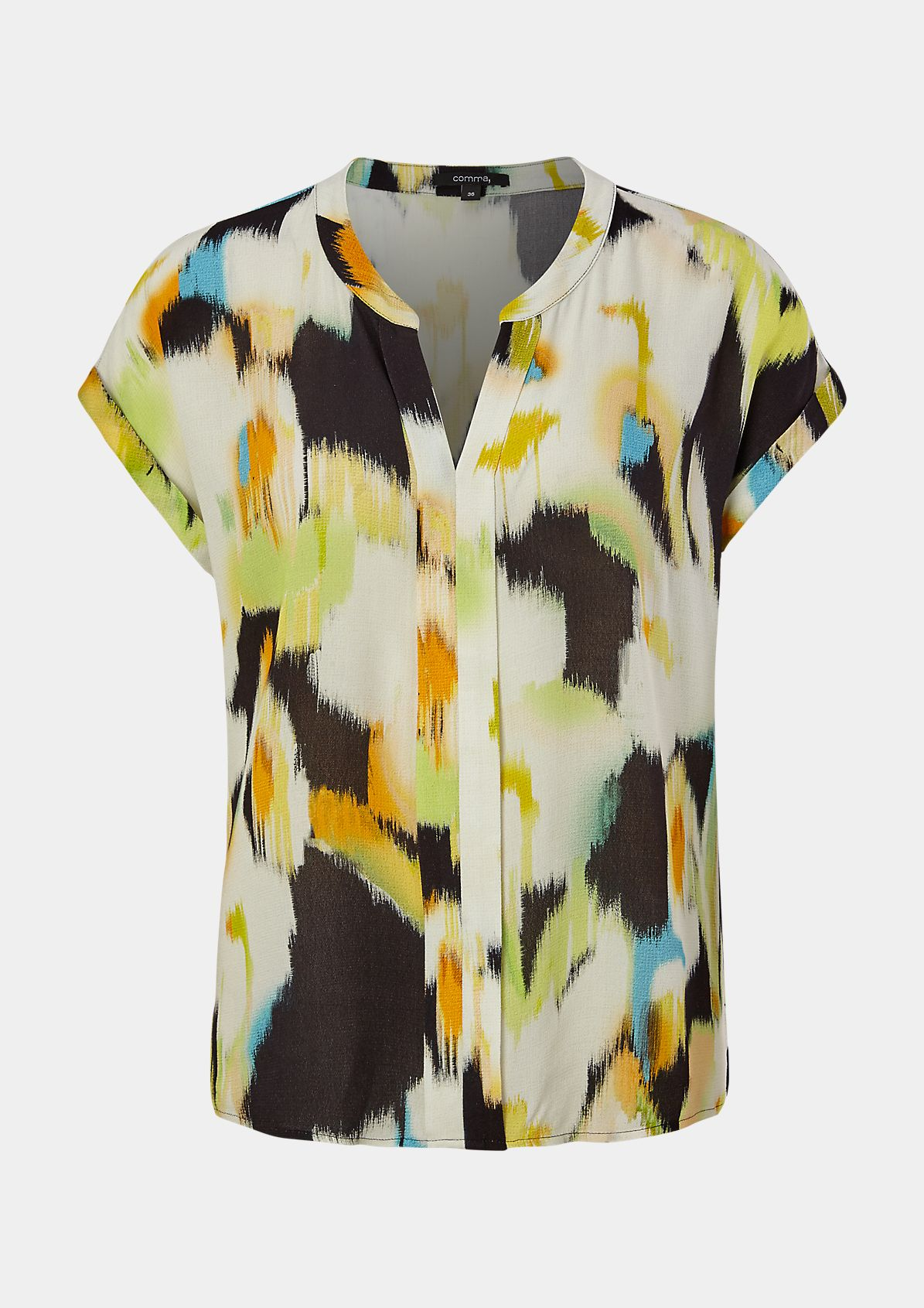 Short sleeve blouse made of flowing fabric from comma