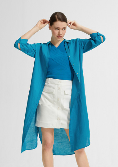 Blended linen long blouse from comma