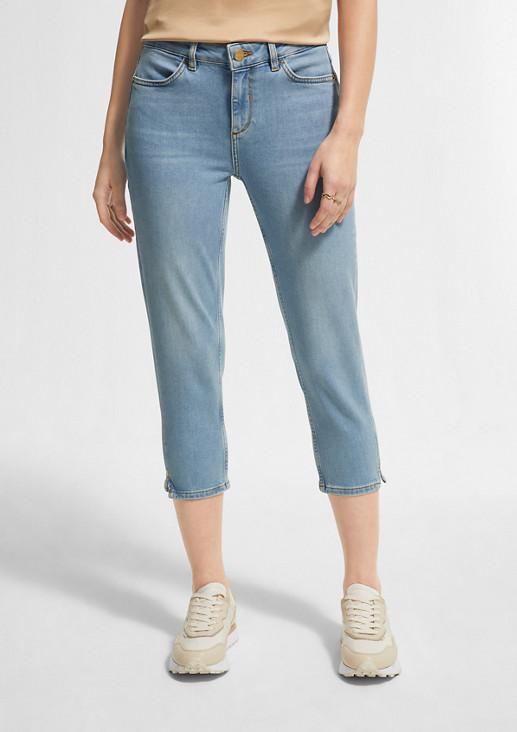 Skinny Fit: Capri aus Jeans