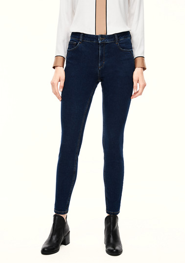 Skinny Fit: skinny leg jeans with a garment wash from comma