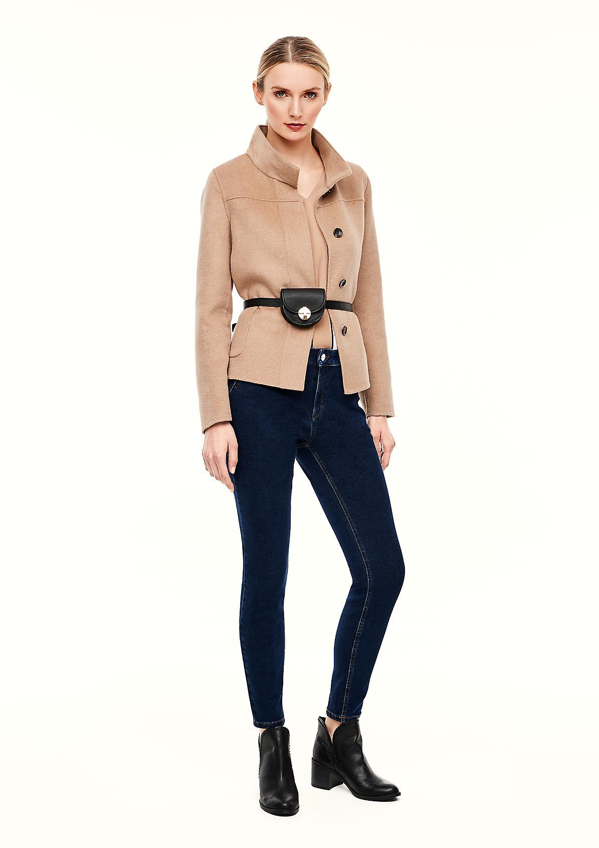 Skinny Fit: Skinny leg-Jeans mit Waschung