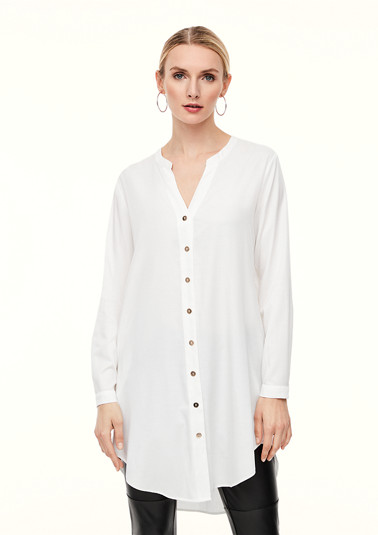 Long blouse with a notch neckline from comma