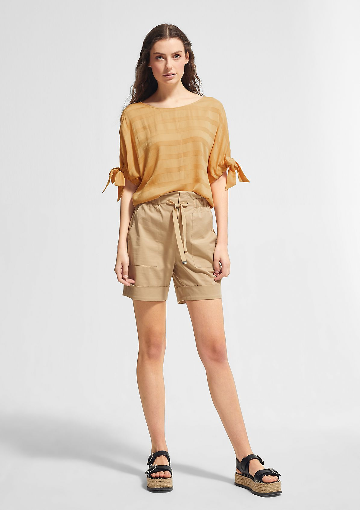 Blouse with drawstring details from comma