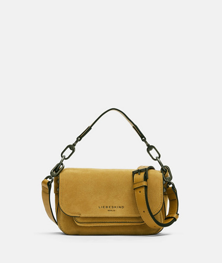 Suede shoulder bag with a flap from liebeskind