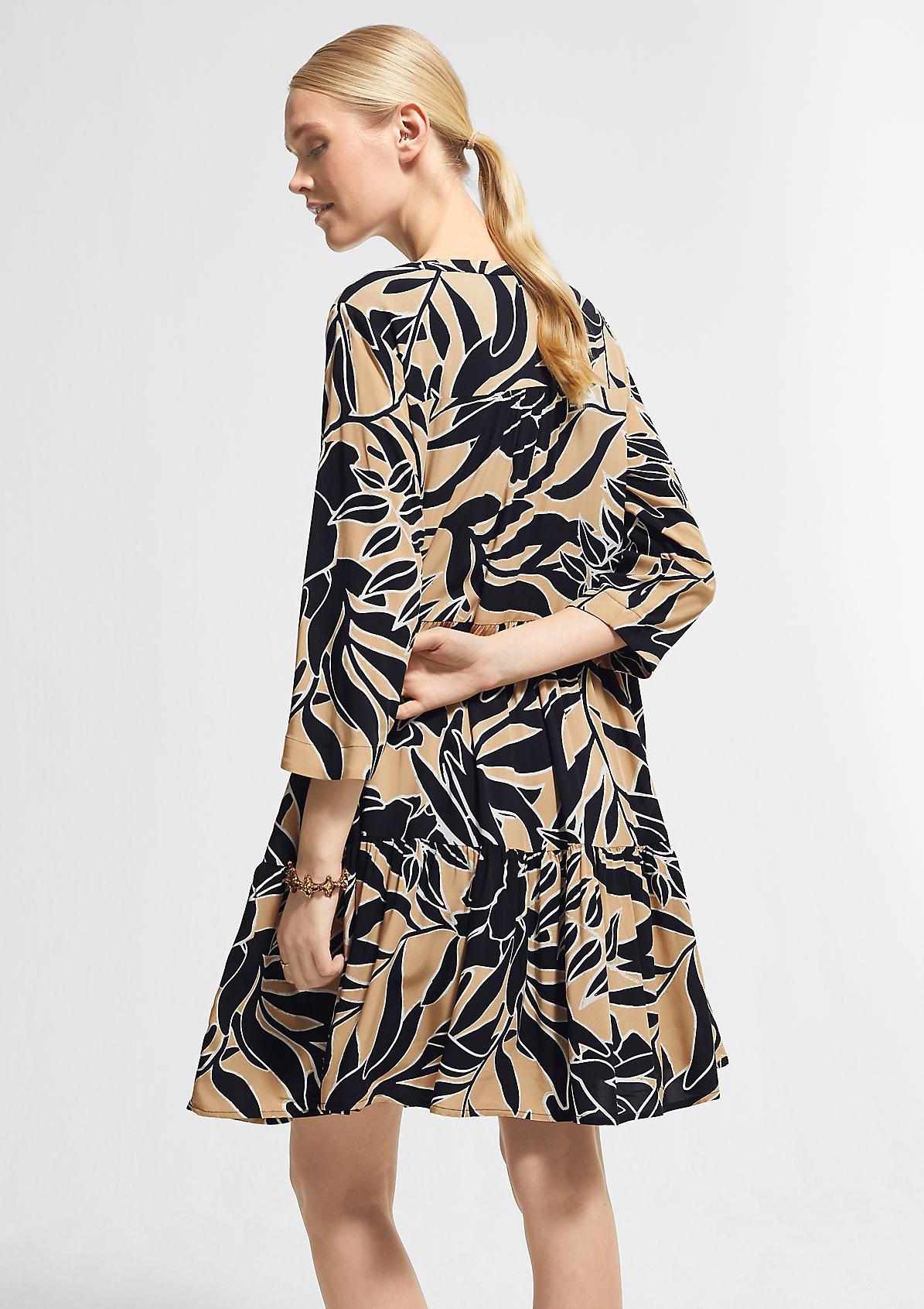 Stufenkleid mit Allover-Print