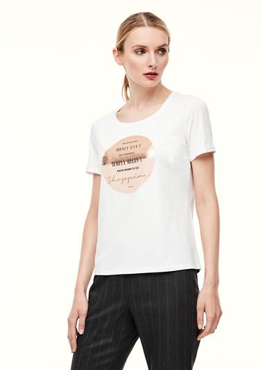 Jerseyshirt mit Metallic-Print