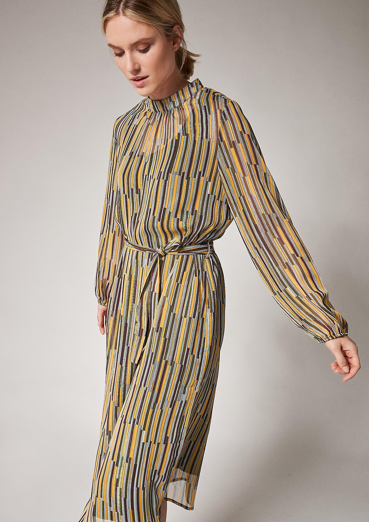 High Neck-Kleid mit Glitzergarn