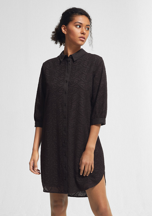 Dress with broderie anglaise from comma