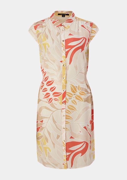 Hemdblusenkleid mit Smokdetails