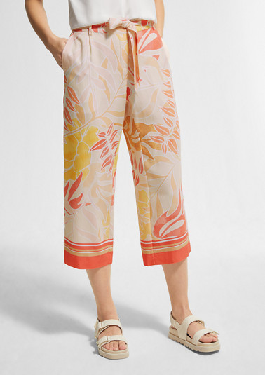 Regular Fit: Viscose culottes from comma