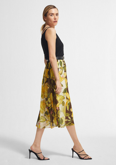 Midi skirt with a floral print from comma