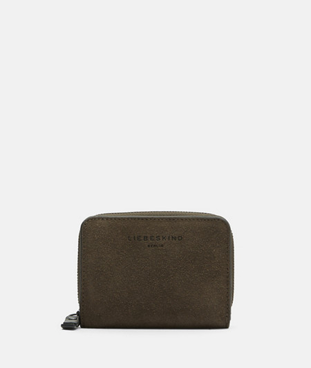 Suede purse in a practical format from liebeskind