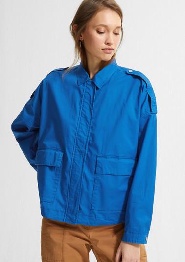 Boxy-Jacke aus Baumwollstretch