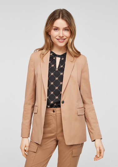 Cotton satin blazer from comma