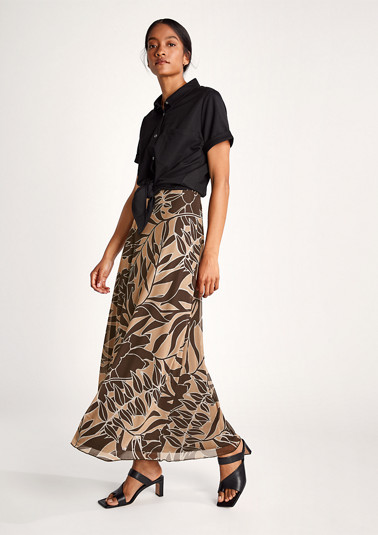 Printed mesh skirt from comma