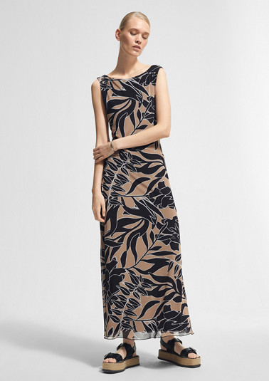 Printed mesh dress from comma