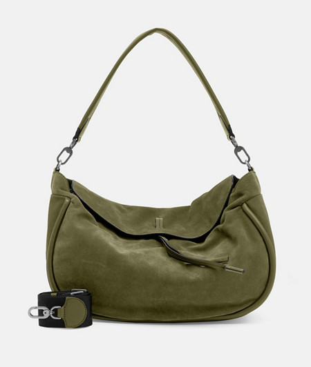 Large boho bag made of suede from liebeskind