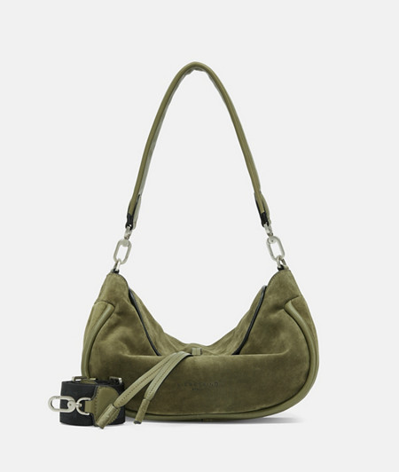Wildledertasche im modernen Hippie-Stil