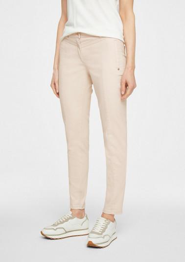 Skinny Fit: Beschichtete Jeans