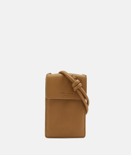 Small mobile phone pouch made of soft leather from liebeskind