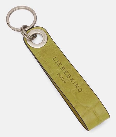 Pendentif d'aspect croco pour clés et sacs de liebeskind