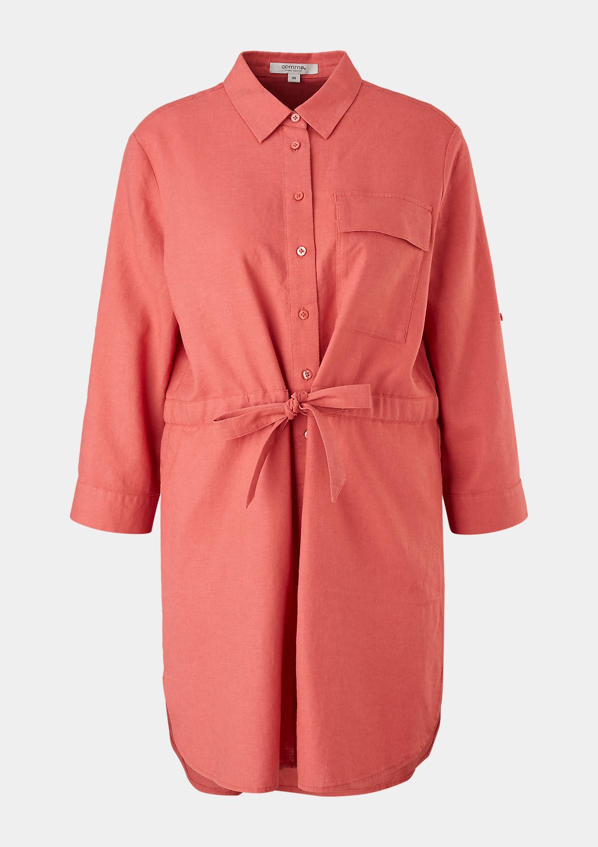 Lange Bluse aus Leinenmix