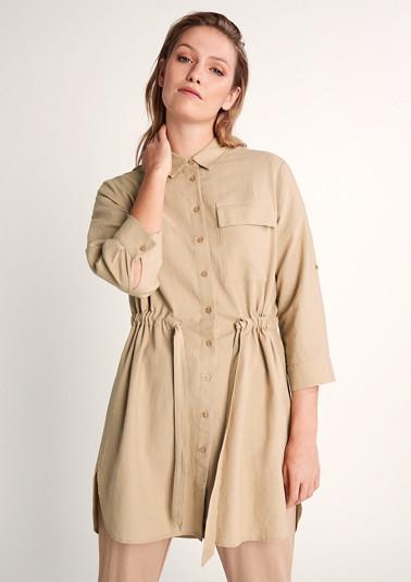 Long, blended linen blouse from comma
