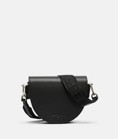 halbrunde Tasche aus Leder