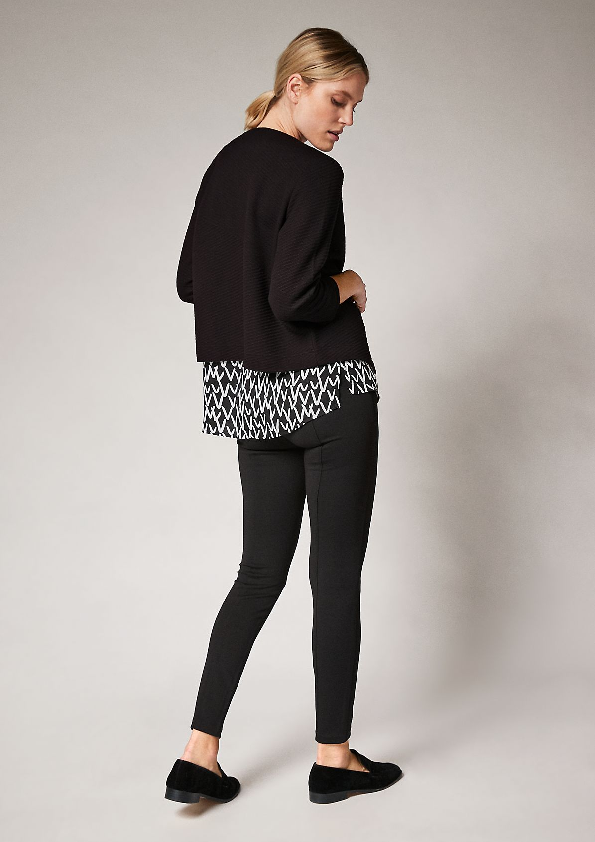 Wool blend jacquard jacket from comma