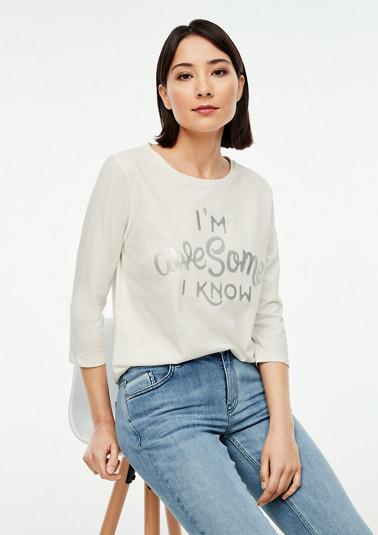 Shirt mit gummiertem Wording-Print