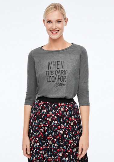 Meliertes Shirt mit Wording